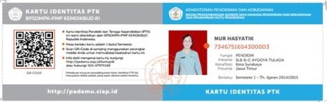 KARTU IDENTITAS NUPTK