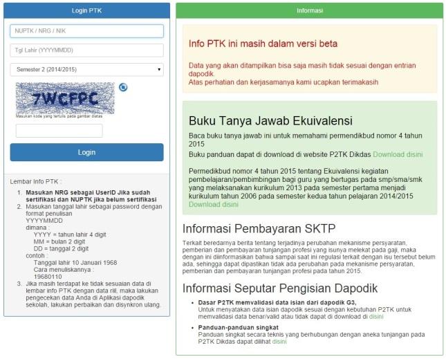 Hal Cek Info PTK